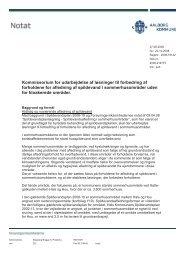 Revideret kommissorium - Forsyningsvirksomhederne
