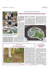Gräber für den Winter dekorieren lassen - Bauernblatt Schleswig ...