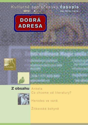4 • 2012 - Dobrá adresa