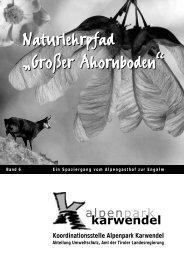 """Naturlehrpfad """"Großer Ahornboden"""" - Alpenpark Karwendel"""