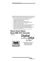 Silver Direct Silent Back EMF DCC Decoder - Lenz USA