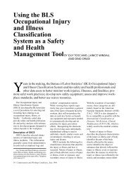 Using the BLS Occupational Injury and Illness Classification System ...