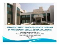 frequency and etiology of elevated troponin in patients with normal ...