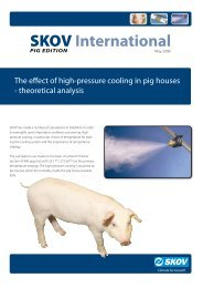 The effect of high-pressure cooling in pig houses - Skov A/S