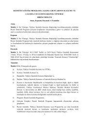 Resmi İstatistik Programı Çalışma Gruplarının Oluşumu ve Çalışma ...