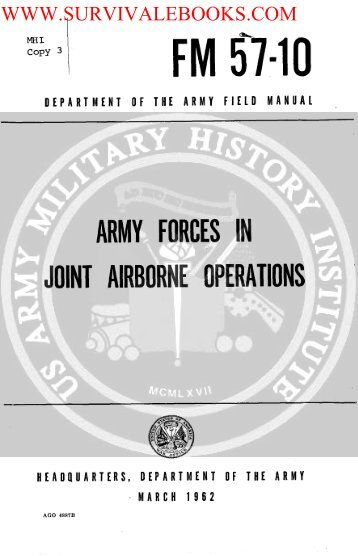 Army Forces in Joint Airborne Operations - Survival Books
