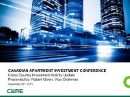 CANADIAN APARTMENT INVESTMENT CONFERENCE - Real Estate Forums