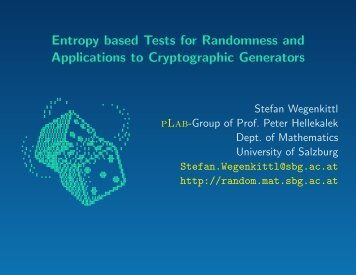 Entropy based Tests for Randomness and Applications to ...