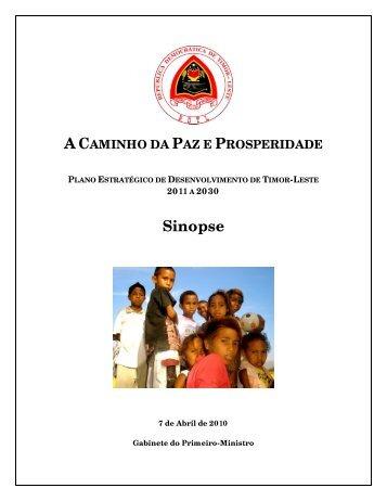 Sumário do Plano Estratégico de Desenvolvimento – Timor-Leste