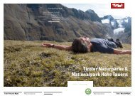 Tiroler Naturparke & Nationalpark Hohe Tauern - Naturpark Tiroler ...