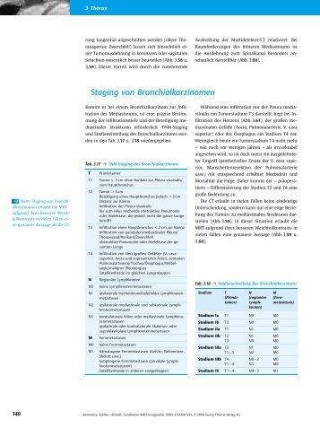 Staging von Bronchialkarzinomen