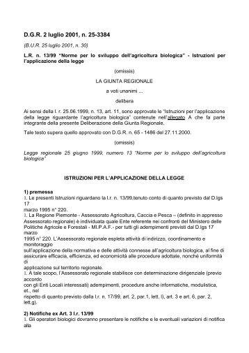 Istruzioni applicative - Piemonte Agri