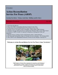 Action Reconciliation Service For Peace (ARSP) - Aktion ...