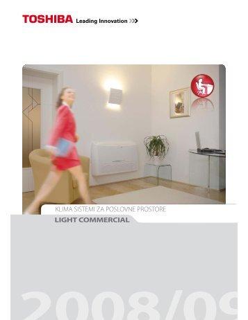 klima sistemi za poslovne prostore light commercial - Toshiba