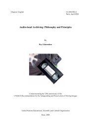Audiovisual archiving: philosophy and principles