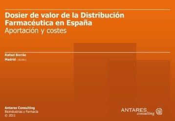 Dossier de valor de la Distribución Farmacéutica en España
