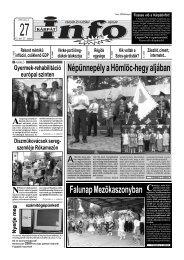 Népünnepély a Hömlöc-hegy aljában - Kárpátinfo.net