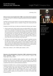 November, 2011 Notice on issues concerning ... - Cuatrecasas