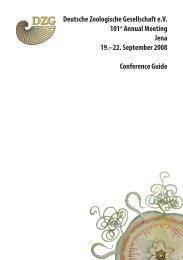 Programm - Deutsche Zoologische Gesellschaft
