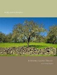 2006 Annual Report - 1 MB PDF - Sonoma Land Trust