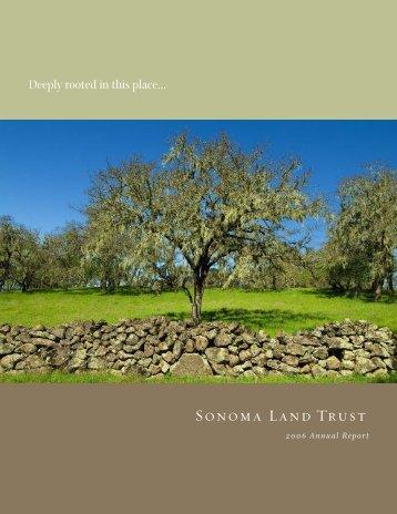 2006 Annual Report - 1 MB PDF - Sonoma Land Trust