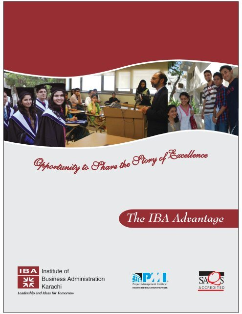 The IBA Advantage 2013 - Institute of Business Administration