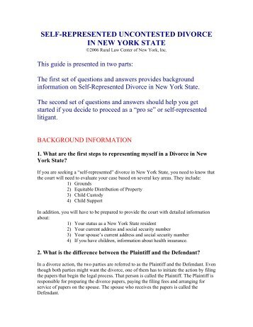 Uncontested divorces in dc the district of columbia bar self represented uncontested divorce in new york state rural law solutioingenieria Gallery