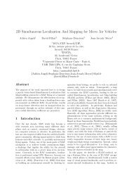 2D Simultaneous Localization And Mapping for Micro Air ... - Ensta