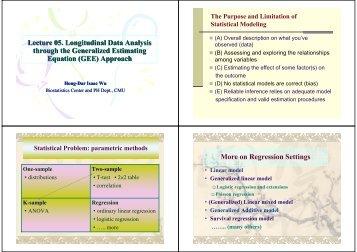 Lecture 05. Longitudinal Data Analysis through the Generalized ...