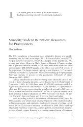 Minority Student Retention: Resources for Practitioners - Dean of ...