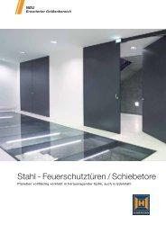 Stahl - Feuerschutztüren / Schiebetore - Hörmann
