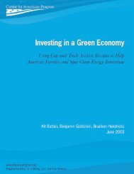 Investing in a Green Economy - Center for American Progress