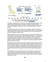 Initial 2011 Central Valley Project Water Supply Allocation ...