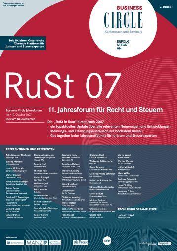 11. Jahresforum für Recht und Steuern - Wiener Börse