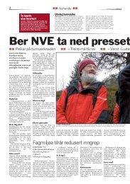 Ber NVE ta ned presset på Sogn - Vestsida-Vigdøla.no
