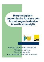Morphologisch- anatomische Analyse von Arzneidrogen inklusive ...