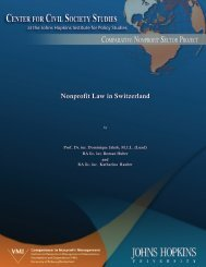 Nonprofit Law in Switzerland