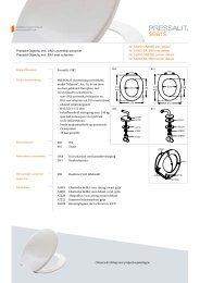 seats for your senses Pressalit Objecta, incl. UN3 ... - Pressalit A/S