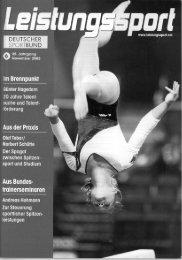 sportbund - Institut für Sportwissenschaft der Universität Bayreuth