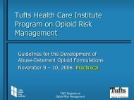 Tufts Health Care Institute Program on Opioid Risk Management
