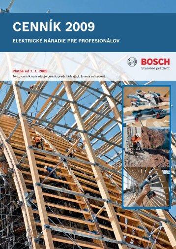 Cenník Bosch-Profi - RM Náradie