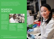 BIOMEDICAL SCIENCES - University of Westminster