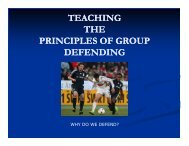 teaching the principles of group defending - US Youth Soccer