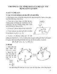 chương 6. các tính chất của hệ lực tác dụng lên vật rắn