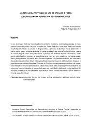A INTERFACE DA PREVENÇÃO AO USO DE DROGAS E O PODER ...