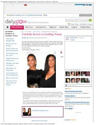Celebrity Secrets to Looking Young - New York Laser & Skin Care