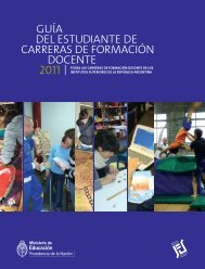 Guía del estudiante 2011 - Cedoc - Instituto Nacional de Formación ...