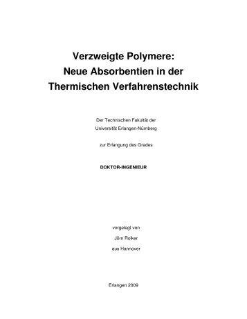 Verzweigte Polymere - OPUS-Datenbank - Friedrich-Alexander ...