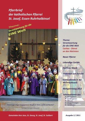 St. Josef, E Ruhrhalbinsel Pfarrbrief 2011,3 ... - Bistum Essen