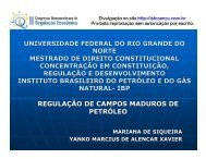 REGULAÇÃO DE CAMPOS MADUROS DE PETRÓLEO